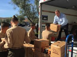 albertsons serves up thanksgiving meals for marines orange