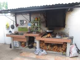 exterior simple outdoor kitchen diy kitchens backyard landscaping