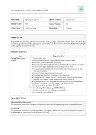Qa Engineer Resume Mechanical Piping Engineer Resume Resume For Your Job Application