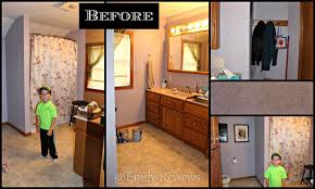 bathroom makeover with glidden grab n go paint emily reviews