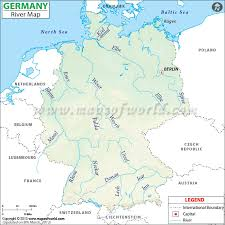 map of germany showing rivers germany river map german rivers