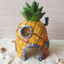 spongebob pineapple house fish tank aquarium decoration ornament