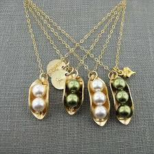 3 Peas In A Pod Jewelry Jc Jewelry Design Two Peas In A Pod Necklace With Two Initial