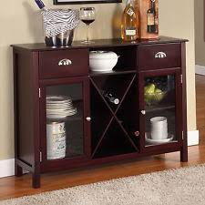 kitchen servers furniture buffet server sideboard table wine cabinet with drawers glass