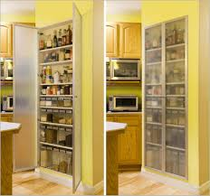 yellow paintry storage wooden materials for modern kitchen storage