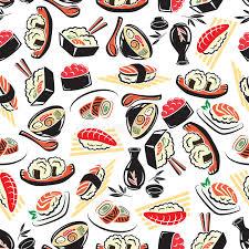 cuisine japonaise traditionnelle modèle sans couture de cuisine japonaise traditionnelle