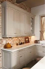 backsplash for kitchen with white cabinet best 25 faux brick backsplash ideas on white brick