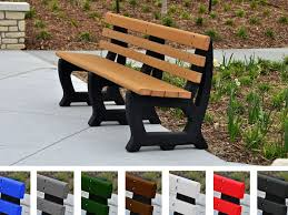 Park Bench And Table Recycled Plastic Brooklyn Bench