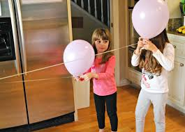 make a balloon zip line mess for less