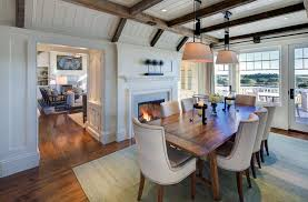 Cottage Dining Room Ideas Dining Room Exposed Beam Design Ideas Pictures Zillow Digs