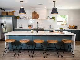 fixer blue kitchen cabinets colorful kitchen design ideas diy