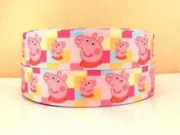 peppa pig ribbon peppa pig ribbon 1 wide new uk seller free p p ebay