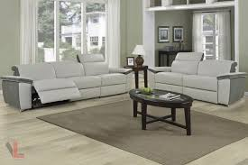 power reclining sofa set aura top grain light grey leather power reclining 2 piece sofa set