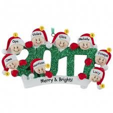 grandparents with 6 grandkids ornaments