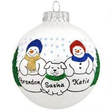 personalized snowman family of 6 with cat ornament cats