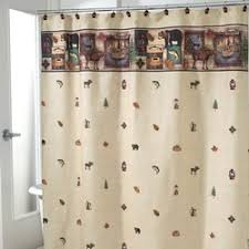 Fishing Shower Curtains Cabin Rustic Lodge Shower Curtains Cabin 9 Design