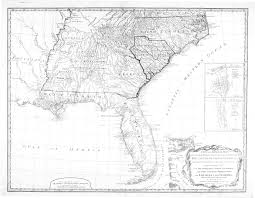 Map Of Southeastern United States by 1794 Map Of The Southeast American