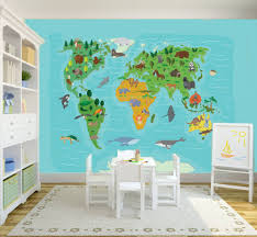 World Map Wall Sticker by Mural World Map Kids Walldesign56 Wall Decals Murals Posters