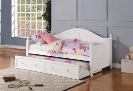 300053 twin daybed w trundle in white by coaster
