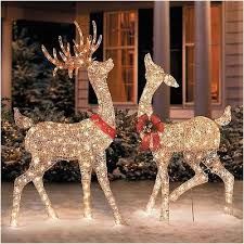 beautiful outdoor reindeer christmas decorations clearance image