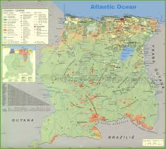 Map Of Africa With Cities by Suriname Maps Maps Of Suriname