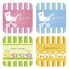 gift cards collection for baby shower vector free