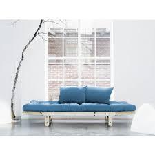 canap futon pas cher canapé futon capitonné convertible structure bois naturel quito