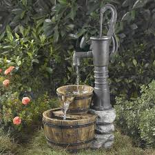 Backyard Water Fountain by Jeco Fcl005 Old Fashioned Water Pump Fountain Water Fountains