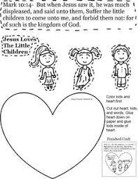 jesus loves the little children activity sheet for kids cutout