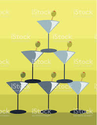 martini olive art retro style martini pyramid stock vector art 460799353 istock