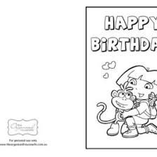 happy birthday card with flowers and balloons coloring page for