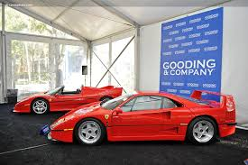 f40 auction auction results and data for 1990 f40 rm sotheby s