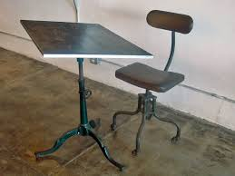adjustable height drafting table industrial drafting table and chair at 1stdibs