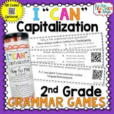 2nd grade capitalization holidays product names