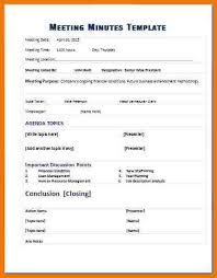 11 meeting minute templates assistant cover letter