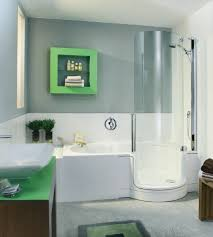 appealing bathroom with shower bath combo feat white color