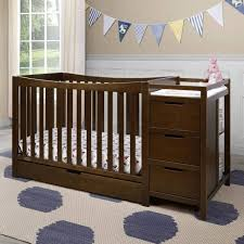 Mini Crib With Attached Changing Table Great Oak Mini Crib With Changing Table Attached Recomy Tables