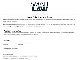 new business client information template populate client intake forms and save in clio webmerge form