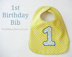 1st birthday bib birthday bib the ribbon retreat