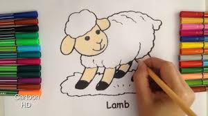 sheep coloring pages kids sheep coloring pages cartoon hd