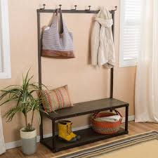 Entryway Bench Coat Rack Coat Rack Bench Shop The Best Deals For Nov 2017 Overstock Com