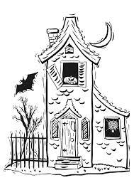 coloriage d u0027une maison à tour hantée coloriages et activités