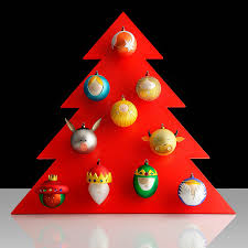 Christmas Tree Balls Palle Presepe Christmas Tree Ornaments Set Of 10 By Alessi