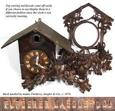 Ebay Cuckoo Clock Spectacular Antique Black Forest 26