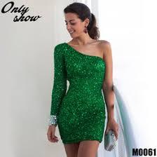 one shoulder sheath full sequin dress online one shoulder sheath