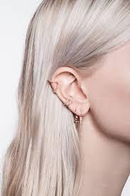 ear clasp micro pave curved triangle ear cuff single earring wendy nichol