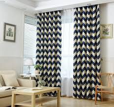 sinogem font chevron design blackout window curtain panel for