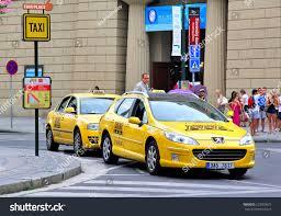 peugeot taxi prague czech republic july 21 2014 stock photo 227809615