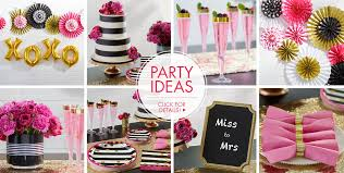 pink u0026 gold confetti bridal shower party supplies party city