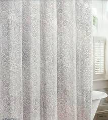 Gray Shower Curtains Fabric Cotton Shower Curtain Foter